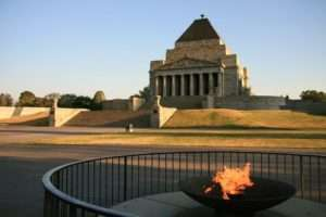 The shrine of remembrance and it's eternal flame